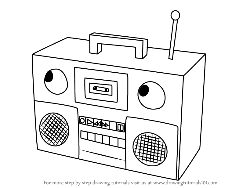 Learn How to Draw Boombox from Don't Hug Me I'm Scared (Don