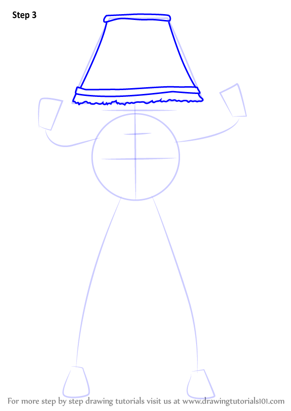 how to draw a lamp post step by step